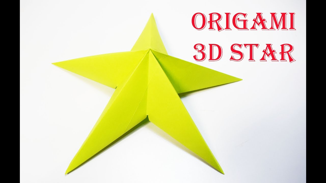 How to make a 3d paper star easy origami for kids by origami how to make a 3d paper star easy origami for kids by origami things jeuxipadfo Choice Image