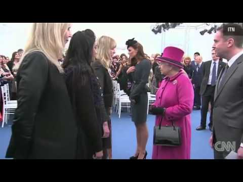 Queen Elizabeth II and Princess Catherine attend fashion show