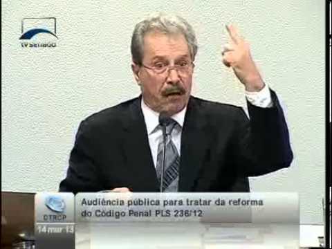 Juarez Cirino dos Santos - Audiência pública sobre o anteprojeto de Código Penal