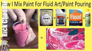 Simple Pouring Medium Recipe And Paint Mixing For Fluid