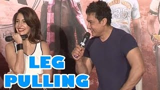 Aamir Khan Pulling Anushka Sharma's Leg At PK Movie's Official Trailer Launch - Top Story!