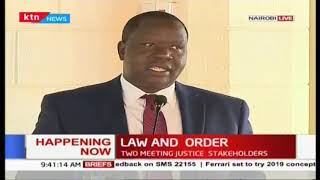 Land and order: Let us not talk let us do action says CS Matiang'i
