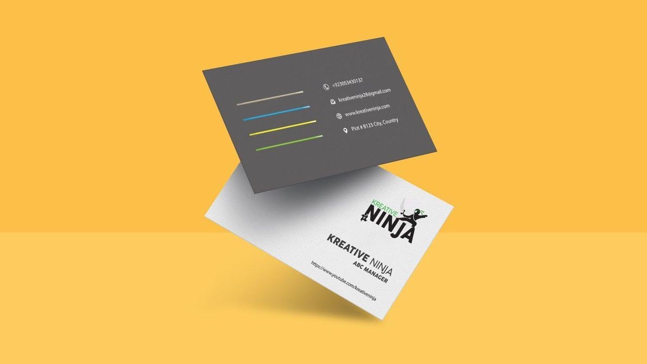 Creating Simple & Modern Business Card Mockup Design | Adobe