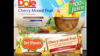 Dole Vs Del Monte: Cherry Mixed Fruit Blind Taste Test