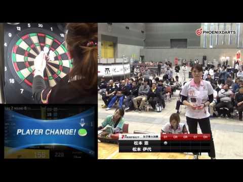 【 PERFECTツアー 第4戦 広島 女子準々決勝】松本恵 VS 松本伊代