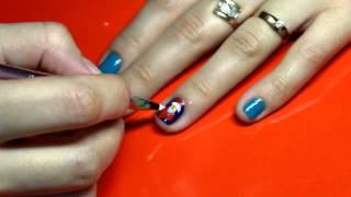 видео Новогодние рисунки на ногтях