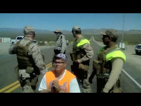 Nevada Test Site Arrests after Stations of the Cross/Sacred Peace Walk 4/14/17 Good Friday