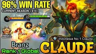 Claude 96% Win Rate S14 - Top 1 Global Claude Branz - Mobile Legends