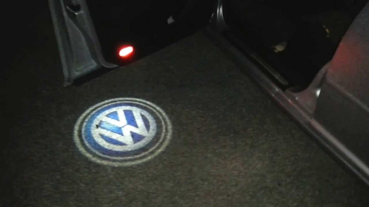 Vw Bora Jetta Door Logo Led Youtube