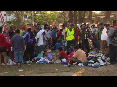 Migrant caravan abandons plan to travel to US border