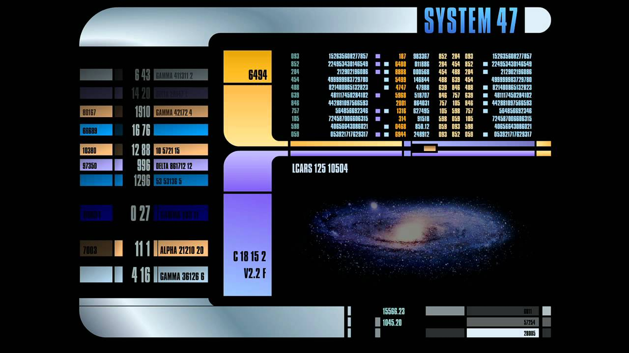 Touch Screen Animated Wallpapers Star Trek Lcars Display Screensaver Youtube
