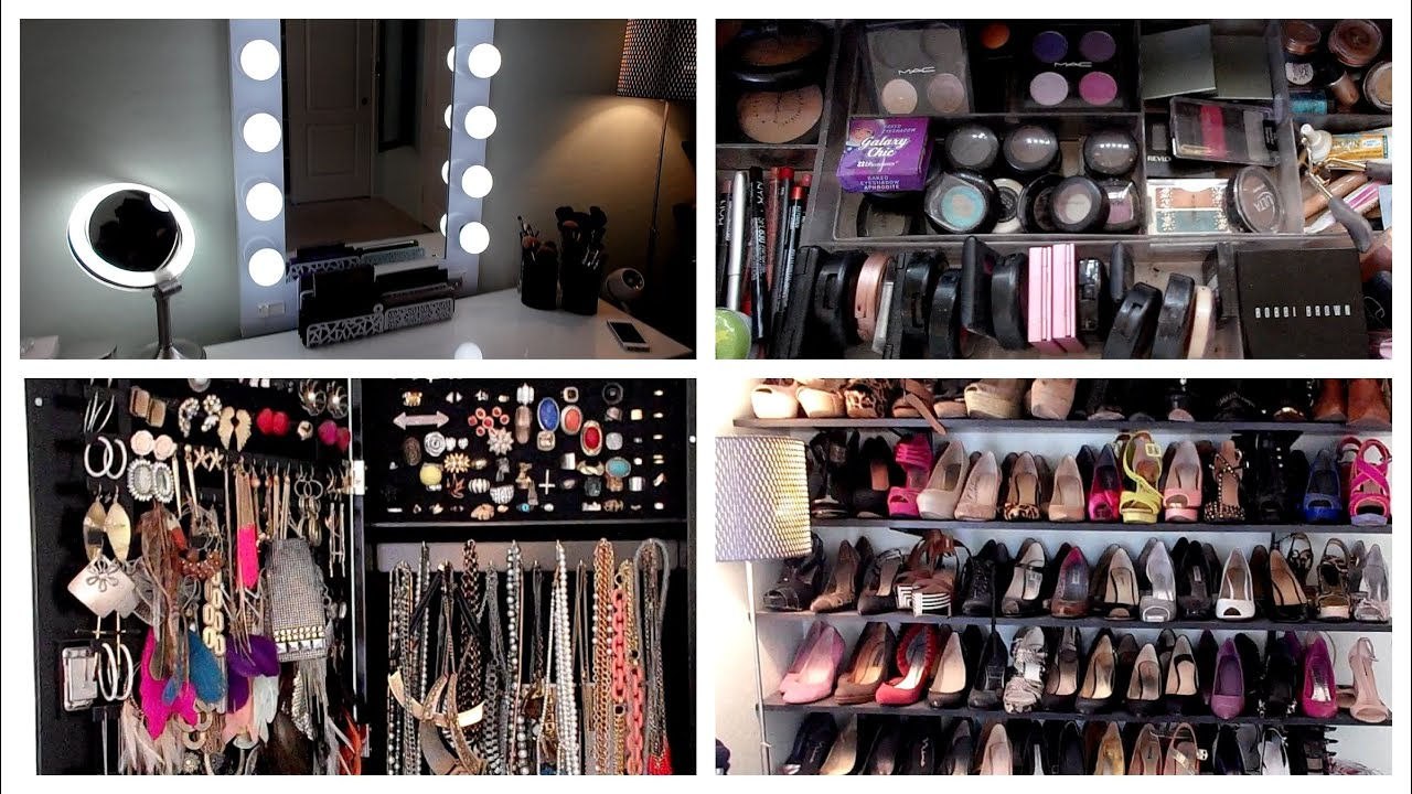 closet vanity ideas - Beauty Room Tour Vanity Makeup Collection Organization