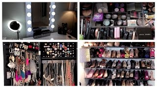 Beauty Room Tour + Vanity + Makeup Collection Organization & Storage