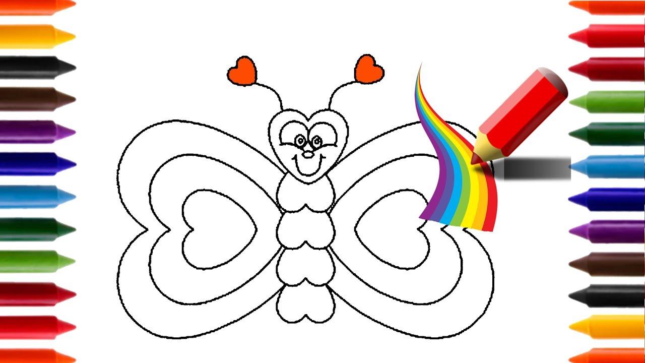 Aprendendo A Desenhar E Pintar Uma Borboleta Arco Iris Animacoes