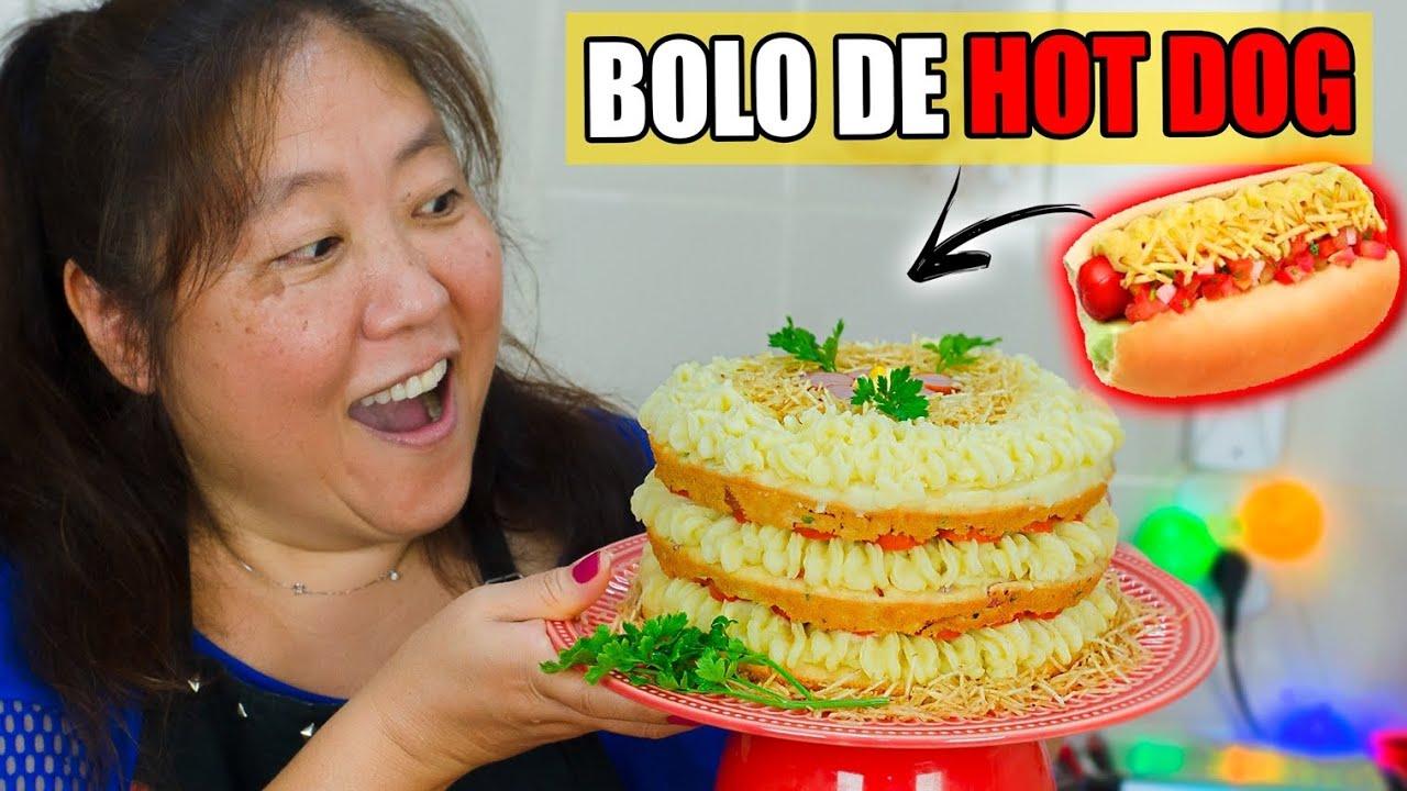 BOLO DE HOT DOG (CACHORRO QUENTE)   TIA DO JOINHA