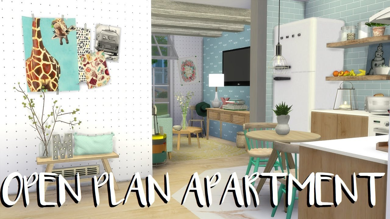 The sims 4 speed build open plan apartment cc list for Apartment matchmaker