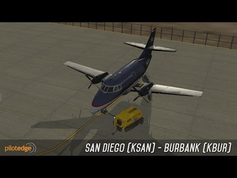 X-Plane 10 | JRollon Jetstream 32 | IFR | San Diego (KSAN) - Burbank (KBUR) | PilotEdge | Full ATC