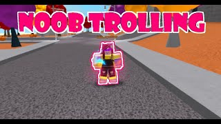 Noob Disguise Trolling With An Admin In Roblox Super Power Training Simulator (Gone Wrong)