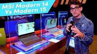 MSI Modern 14 Vs Modern 15
