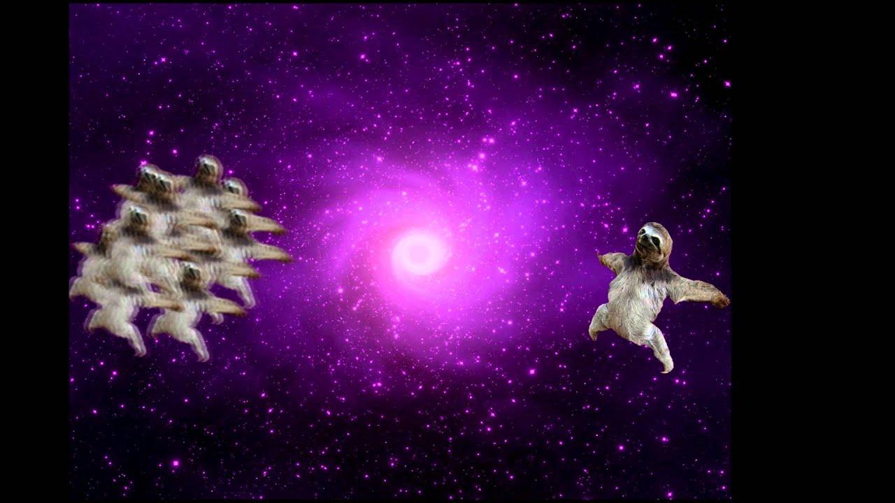 Sloth Wallpaper Cute Space Sloth Youtube