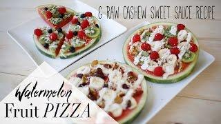 Healthy Summer Snack - Watermelon Fruit Pizza | Anneorshine