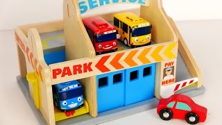 Parking Garage Services Playset for Kids!!! Tayo Bus and Car Toys for Children thumbnail