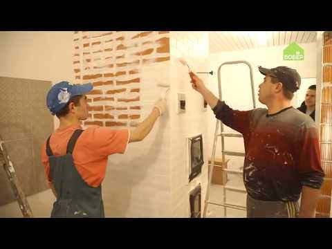 Термостойкая краска для печей CERTA. Белая кирпичная печка