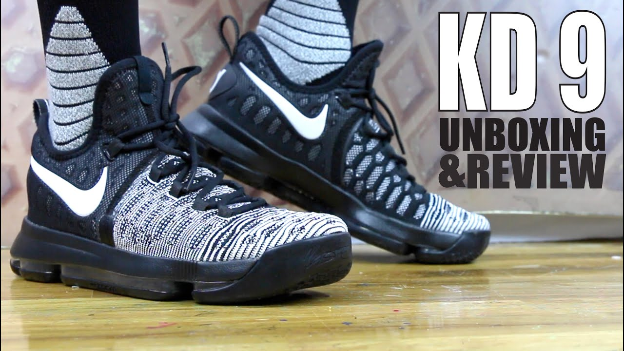 the latest 5726f 22738 NIKE KD 9 OREO EARLY UNBOXING AND REVIEW