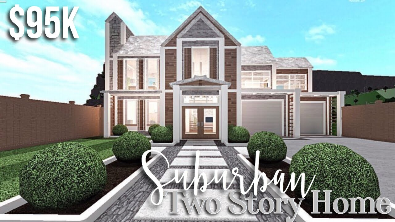 Suburban Two Story Home Bloxburg House Build Gamingwithv Youtube