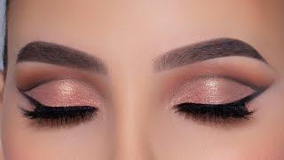 Modern Glam Eye Makeup Tutorial | Bronze Eye Look