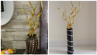 Home Decoration With Newspaper | DIY | News Paper Craft | DIY Paper Flower Stem | Best Out Of Waste