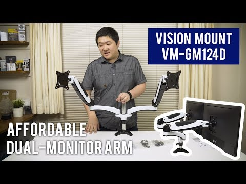 Affordable Gas Spring Dual-Monitor Arm! - VM-GM124D | Unboxing & Installation