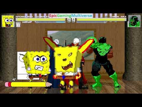 Devil May Cry Characters And DoodleBob And SpongeBob VS Simon Baz In A MUGEN Match / Battle / Fight