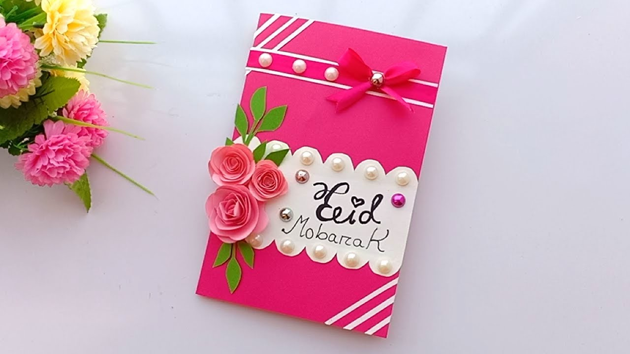 How to make Eid card / DIY Eid card/make beautiful Eid card