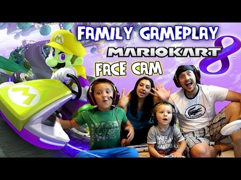Mario Kart 8 - Family Face Cam Gameplay (Grand Prix & Battle