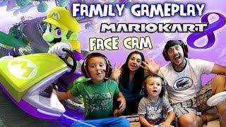 mario kart 8 family face cam gameplay grand prix battle 50cc 150cc