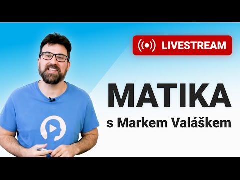 LIVESTREAM - Matika pro SŠ s Markem Valáškem ― 13. díl (středa 13. 1. - 18:45)