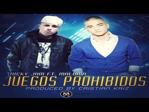 Juegos Prohibidos (Remix)  Nicky Jam Ft Maluma (Original) REGGAETON 2013