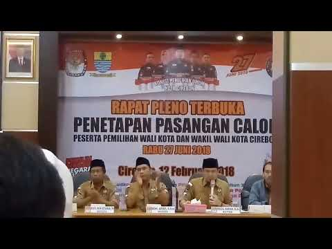 PILKADA SERENTAK: Pasti Dan Oke Resmi Ditetapkan Sebagai Paslon Wali Kota Serta Wali Kota Cirebon