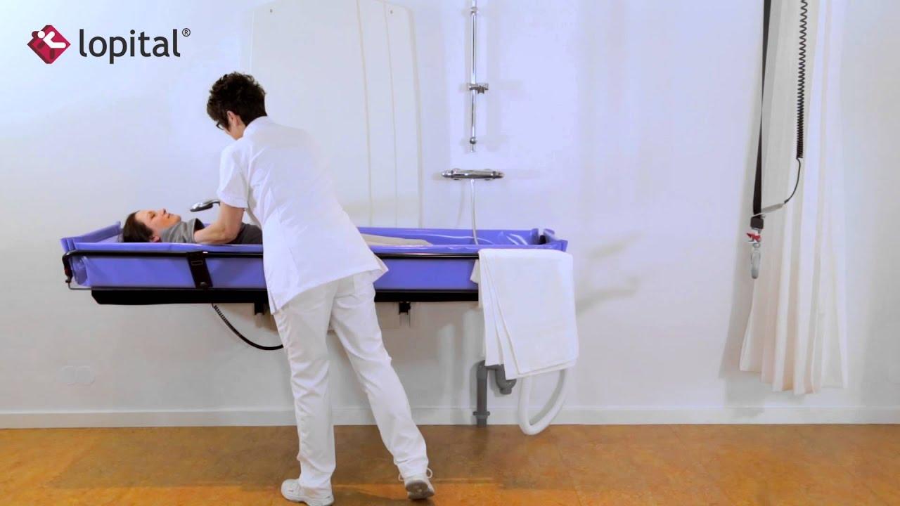 lopital lehrvideo sirocco elektrisch h henverstellbar wand duschliege de youtube. Black Bedroom Furniture Sets. Home Design Ideas