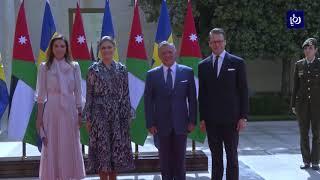 الملك والملكة يستقبلان ولية عهد السويد والأمير دانيال - (17-10-2018)