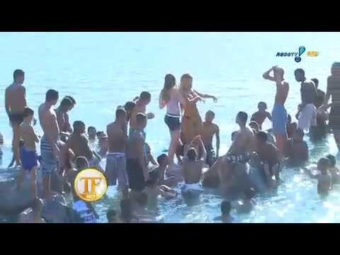 Popozuda 'causa' De Biquíni No Piscinão Do Alemão - TV Fama 01/05/2014