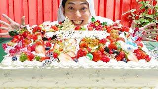 巨大クリスマスケーキが大爆発するドッキリwwwwww
