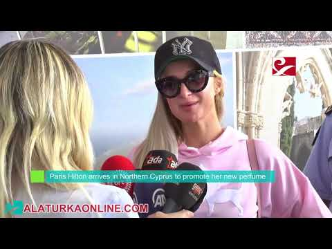Paris Hilton arrives in Northern Cyprus to promote her new perfume Platinum Rush