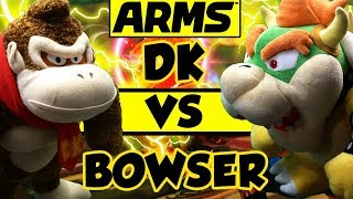 ABM: Donkey Kong Vs Bowser !! ARMS Gameplay Match!! HD