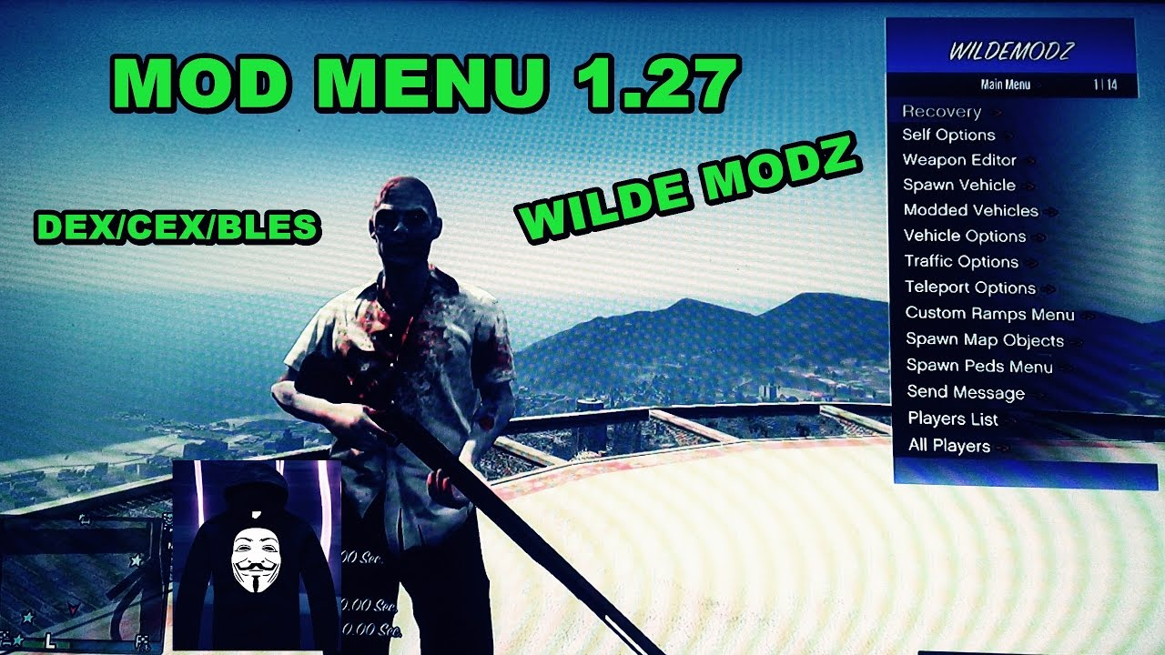 Resultado de imagem para PS3/1.27/1.28] GTA V ONLINE BEST MOD MENU SPRX WILDEMODZ {GTA 5 GamePlay} + Download
