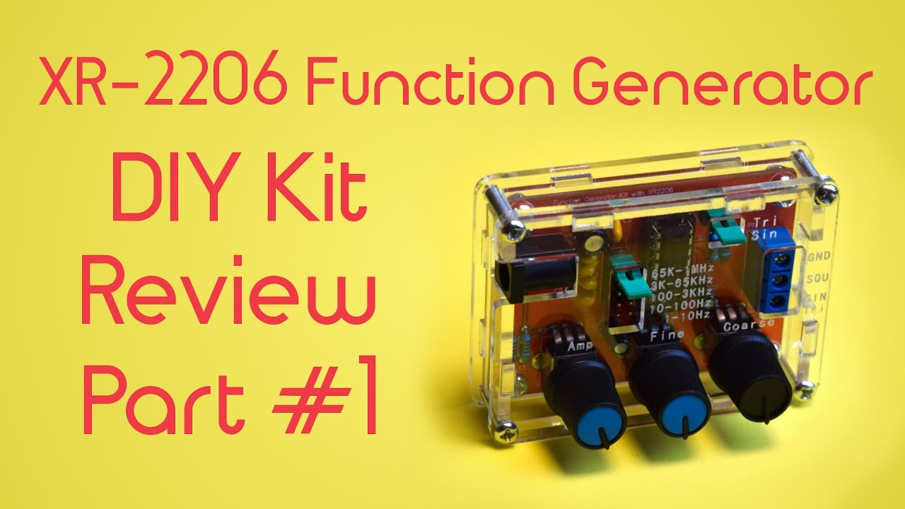 Xr2206 Function Generator Schematic Speed Functiongenerator Circuit Diagram Tradeoficcom Xr 2206 Signal Diy Kit Review Part 1 Asssembly Youtube