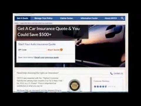 Auto insurance price quotes with Geico