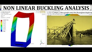 ANSYS Workbench Buckling Non Linear Large Displacement Analysis Tutorial | GRS |