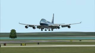 FS2004 - B747-400F PMDG Version Landing at Haneda International Airport, Tokyo, Japan